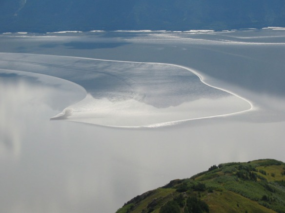 Tidal patterns on Turnagain Arm from Bird Ridge