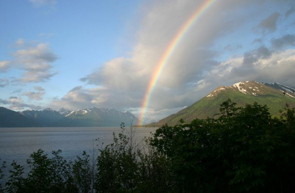 Turnagain Arm from the Porcupine Campground in Hope