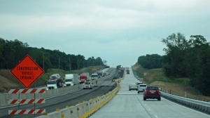 Construction and trucks--not fun