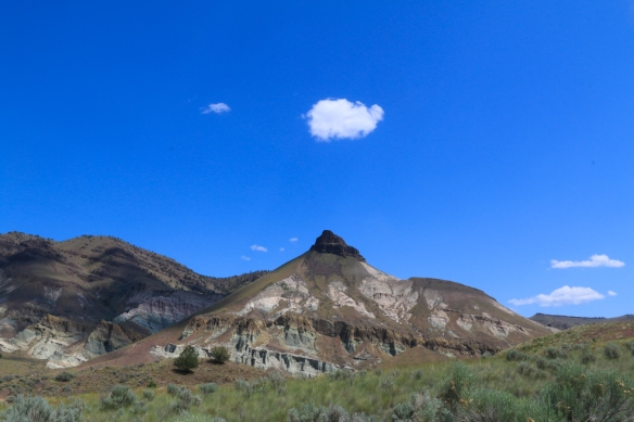 Sheep mountain.  Looks like smoke signals.