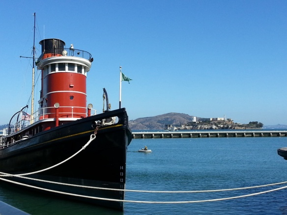Tugboat and Alcatraz