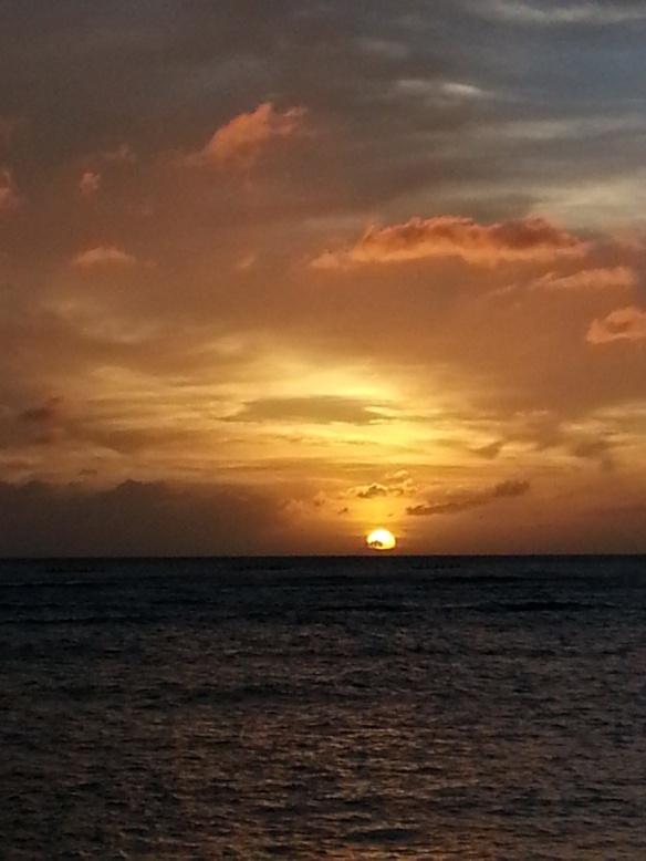 Honolulu sunset on the same trip.