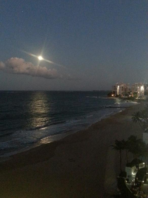 San Juan moonrise
