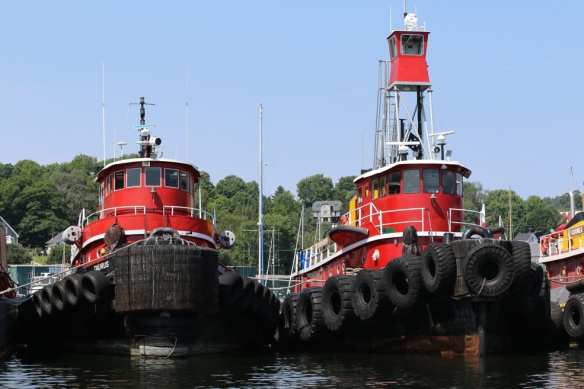 I love a red tugboat.  These were almost blinding.