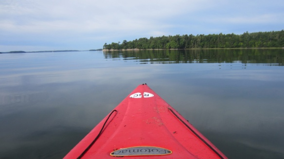 It was mostly dead calm when we went kayaking