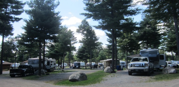 Just us--and about a thousand other people--at this campground in Massachusetts