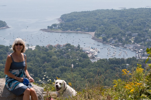 View of Camden Harbor from Mt. Battie