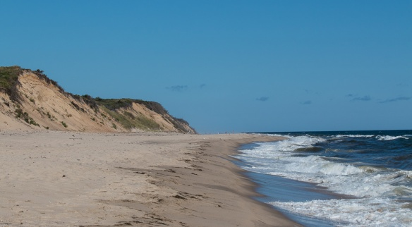 No shore development to interfere with natural dune formation