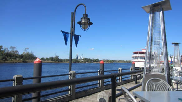 Our view from The George.  The USS Carolina, now a museum, is across the river