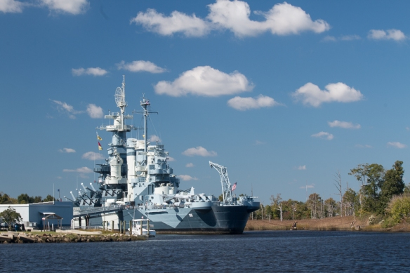 The USS North Carolina was a WWII battleship in the Pacific fleet.