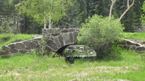 Park bridge built by the CCC in Oregon