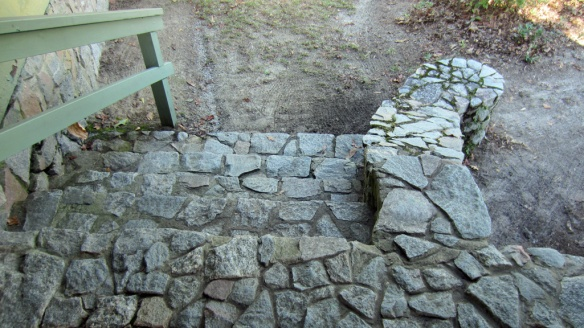 The Aiken park headquarter's stairs.  I loved the curved end to the stone rail.