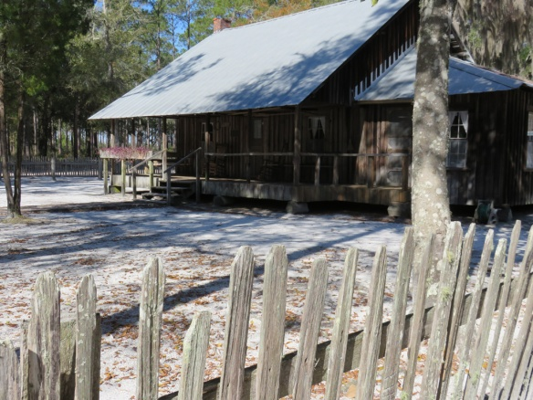 Chesser homestead cabin and yard.