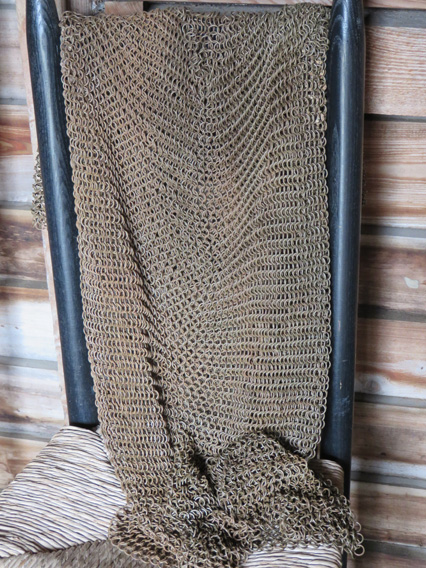 Chain mail for the kids to touch and feel its weight and texture