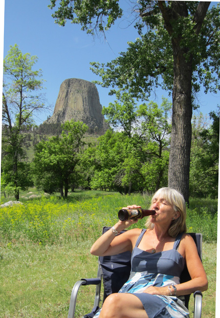 Last June at Devil's Tower in Wyoming.