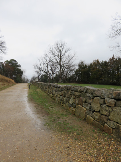 This (now reconstructed) stone wall provided nice cover for the Confederate army to shoot down on the Union troops below.