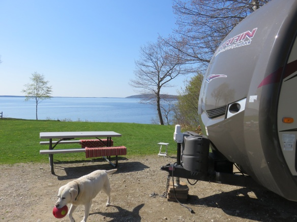 Our next-to-the-last campground in Belfast, Maine.  A fittingly beautiful, and chilly campsite