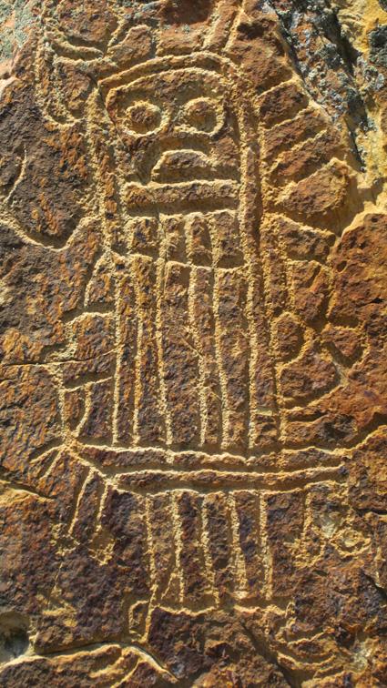 Petroglyphs in Dubois hills