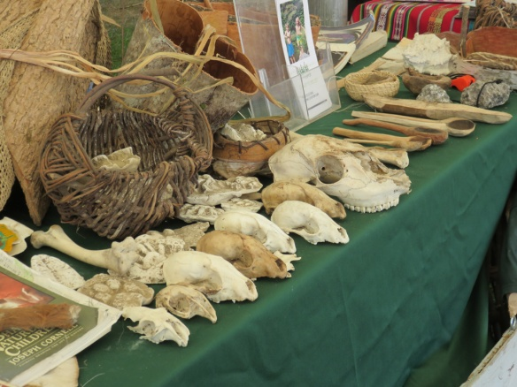 These were in tent devoted to Maine's Native Americans' crafts, skills, and culture
