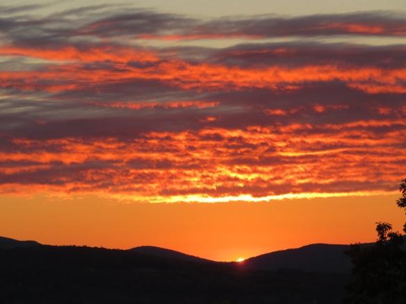 Red sky at morning, sailors take warning.