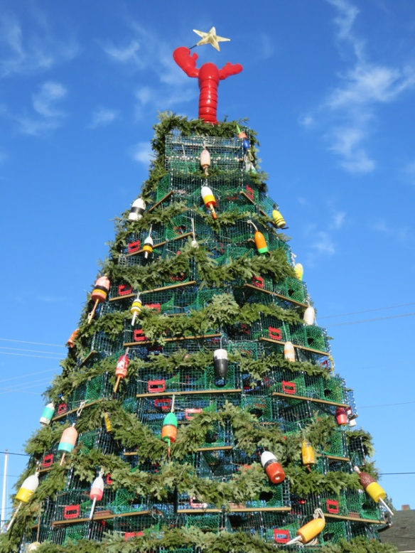 Rockland's Christmas tree made of lobster pots.