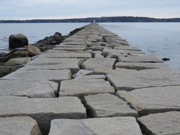 The breakwater was built over twenty years at the end of the 1800s.